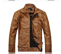 Мужская демисезонная кожаная куртка. Арт.В1005, фото 1