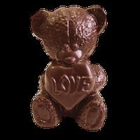 Шоколадна фігурка Солодкий Світ 100г Ведмедик з серцем чорн.