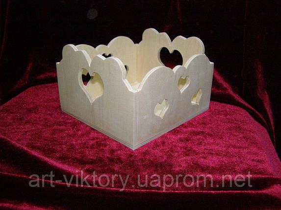 Короб з сердечками, декор (14 х 15 х 10 см), фото 2