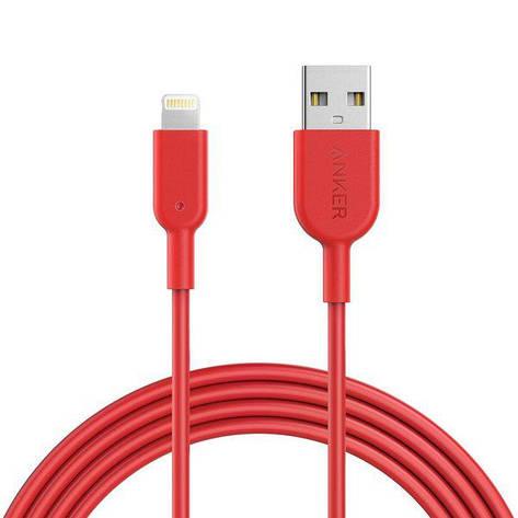 Кабель Anker Powerline II Lightning 1.8м V3 Red, фото 2