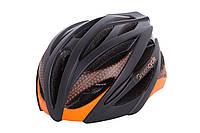 Шлем Green Cycle New Alleycat размер 58-61см для города/шоссе черно-оранжевый матовый