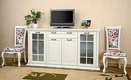 Комод широкий со стеклом в классическом стиле  Прованс   РКБ-Мебель, цвет на выбор