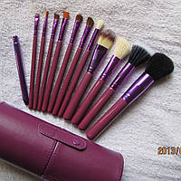 Подарок на новый год Набор кистей для макияжа 12 штук Тубус В НАЛИЧИИ