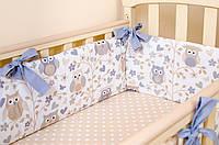 Бортики в детскую кроватку BabySoon Совушки на ветках 360см х 26см цвет бежевый (513), фото 1