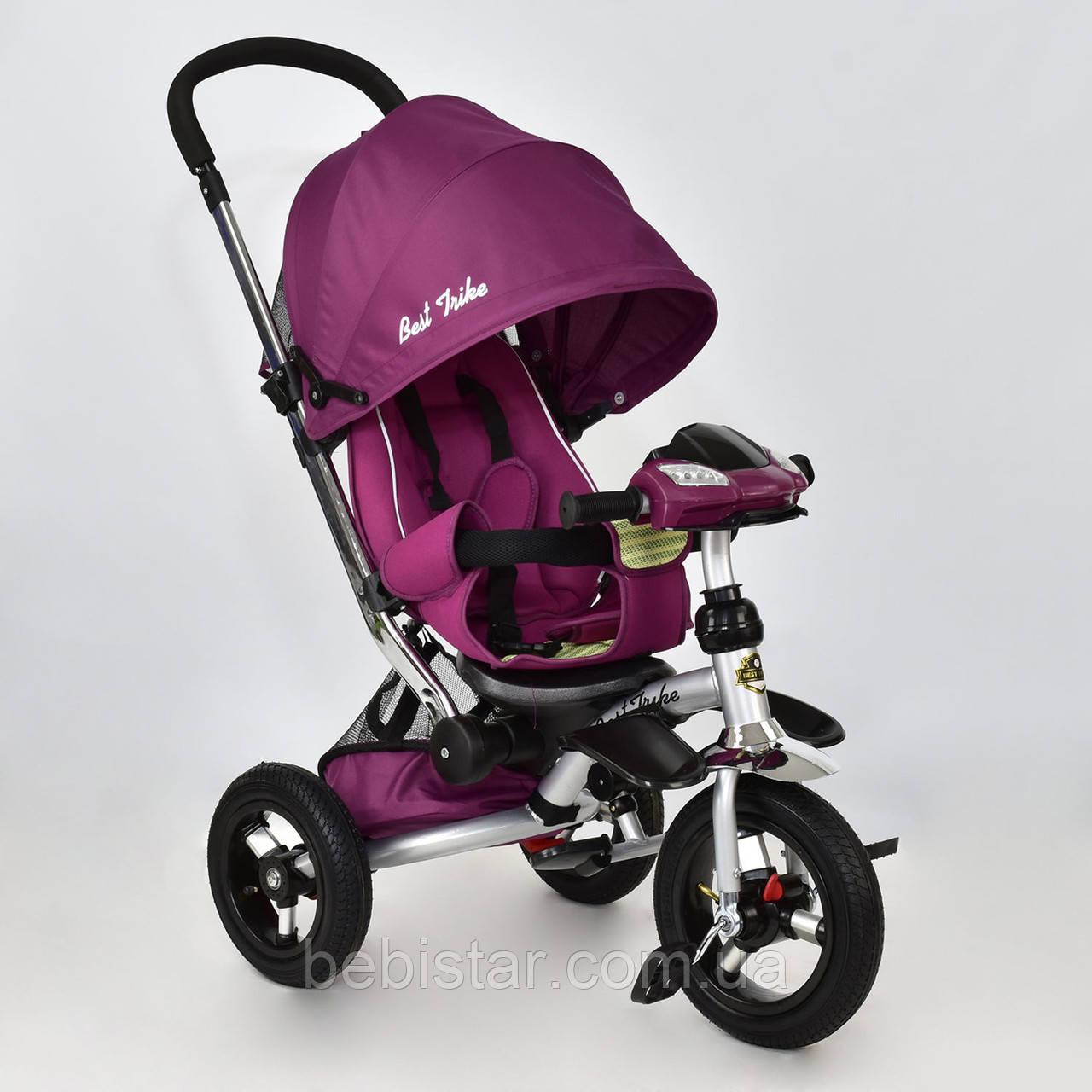"""Детский трехколесный велосипед """"Best Trike 698"""" фиолетовый музыка и свет"""