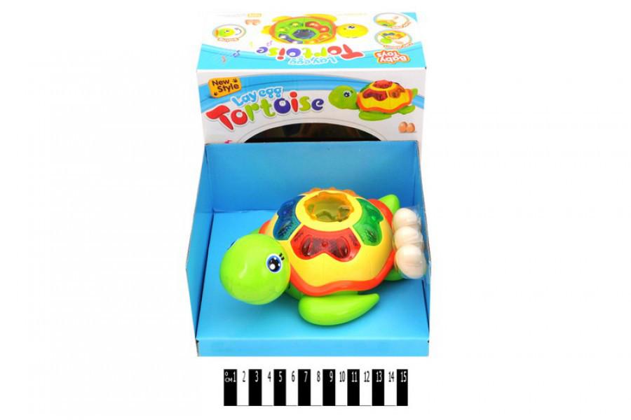 """Развивающая Игрушка """"Черепаха"""" 0606, откладывает яйца, свет, звук."""