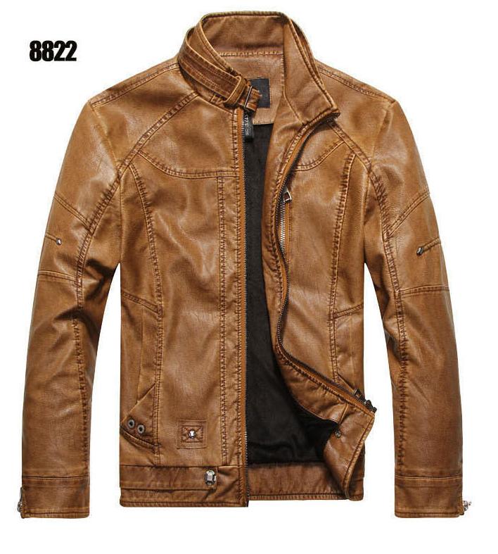 Мужская демисезонная кожаная куртка. Арт..А8822