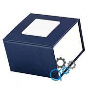 Подарочная коробка для часов синяя с белым квадратом