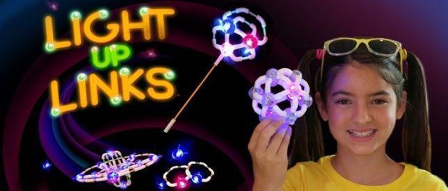 Детский Светящийся конструктор Light Up Links (Лайт ап линкс) 158 деталей!