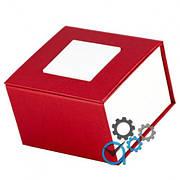 Подарочная коробка для часов красная с белым квадратом