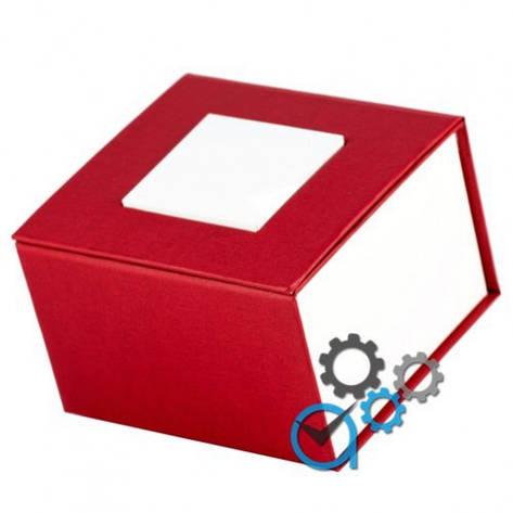Подарочная коробка для часов красная с белым квадратом , фото 2