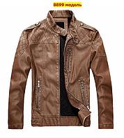 Мужская демисезонная кожаная куртка. Арт..А8899, фото 1