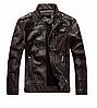 Мужская демисезонная кожаная куртка. Арт..В8899