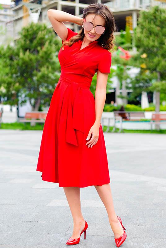 Женское платье Бритни цвет красный
