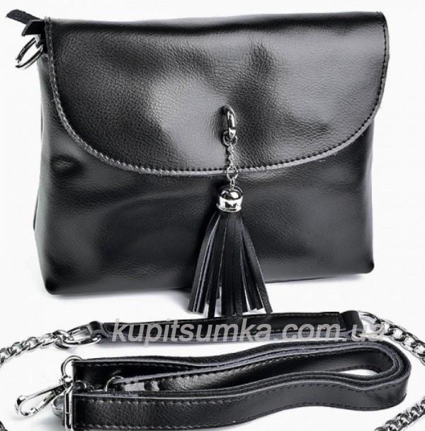 14ac67edcb27 Сумка через плечо из натуральной кожи, цвет чёрный: продажа, цена в ...
