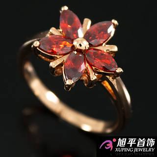 """Кольцо """"Цветок из 5ти узк. камней-лепестков + 5 мет. полос"""""""