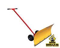 Лопата для снега ручная, снегоуборочный отвал на колесиках, фото 1