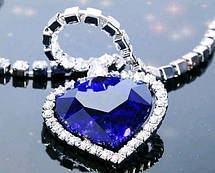 "Кулон ""Сердце океана"" с кристаллами , фото 3"
