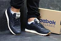 Кроссовки рибок классик мужские синие кожаные для спорта (реплика) Reebok  Classic Dark Blue Leather ec3ba41c4af58