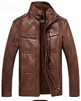 Мужская кожаная куртка (1015)