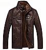 Чоловіча шкіряна куртка демісезонна. Арт..Б015