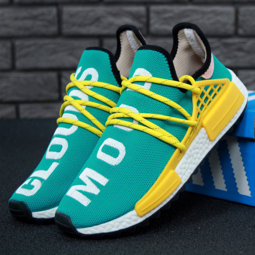 the latest d6665 c23ba Adidas NMD Pharrell Williams Human Race Clouds Mood Turquoise (реплика)