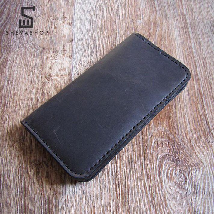 e577f0ddc399 Кожаное мужское портмоне ручной работы TED темно-коричневое - ShevaShop -  одежда родом из Украины