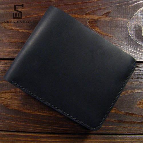 466a63e13a08 Кожаное мужское портмоне ручной работы Harus черный