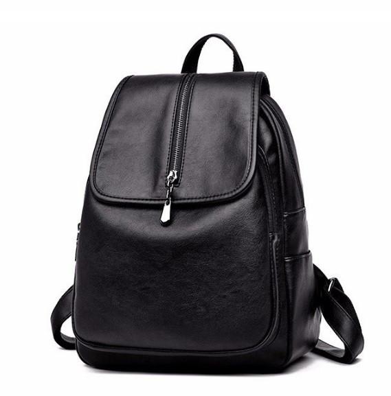 Рюкзак женский кожзам Patekly молодежный Черный