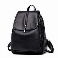 Рюкзак женский кожзам Patekly молодежный Черный, фото 1