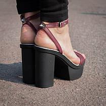 Босоножки на толстом каблуке 7468, фото 2