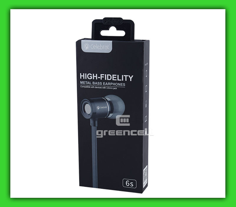 Наушники Celebrat 6s Metall Bass Earphones