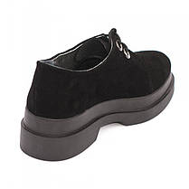 Туфли замшевые на платформе 8123, фото 2