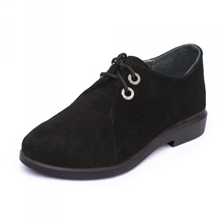 Туфли женские замшевые Дерби  Размеры 36-41 Большемерят