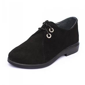 Туфли женские замшевые Дерби  Размеры 36-41 Большемерят, фото 2