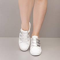 Кеды белые на липучках 8411, фото 3