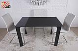Стеклянный раскладной стол BRISTOL B 130/200*85 графит Nicolas (бесплатная адресная доставка), фото 5