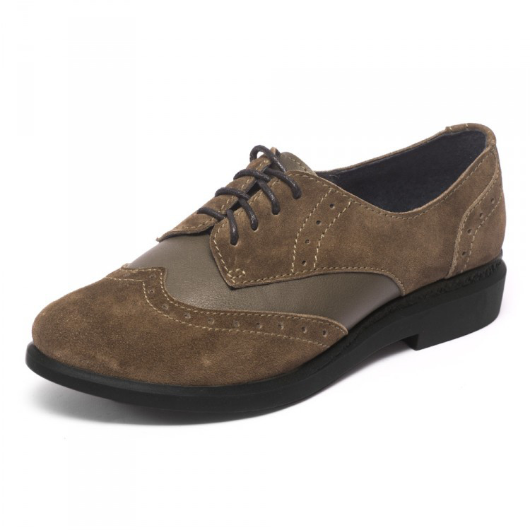 Туфли оксфорды коричневые 7934 только 38 р.