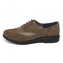 Туфли оксфорды коричневые 7934 только 38 р., фото 3