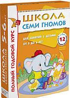 Полный годовой курс. Для занятий с детьми от 5 до 6 лет (комплект из 12 книг) Школа Семи Гномов