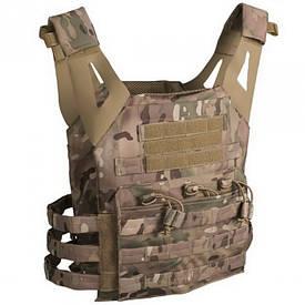 Разгрузочный жилет с карманами для бронепластин Mil-Tec мультикам