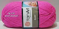 Нитки пряжа для вязания акриловая BABY YarnArt Беби Ярнарт № 174 - яркий розовый