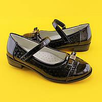 Туфли черные школьные для девочек Tom.m размер 33,34,35,36,37,38