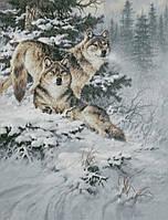 """Схема для вышивания """"Волки в морозном лесу"""""""