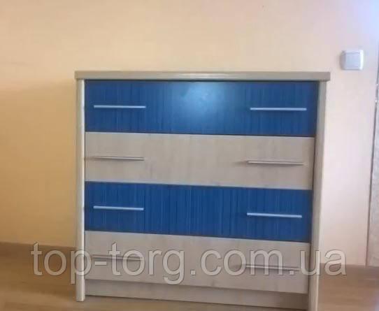 Комод в дитячу кімнату Денді 4Ш Мебельсервис синій, фото, на 4 (чотири) висувних ящика. В наявності та під замовлення