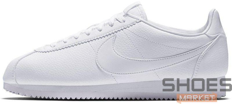 "Мужские кроссовки Nike Classic Cortez Leather ""All White"" 807471-102, Найк Кортез"