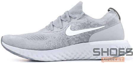 Женские кроссовки Nike Epic React Flyknit Grey AQ0067-002, Найк Эпик Реакт Флайнит, фото 2