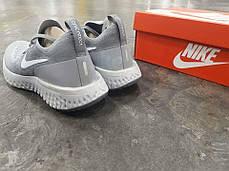 Женские кроссовки Nike Epic React Flyknit Grey AQ0067-002, Найк Эпик Реакт Флайнит, фото 3