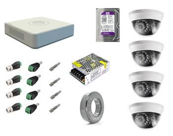 "Комплект с установкой ""под ключ"" 4 TurboHD камеры 2 Mp"