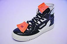 Мужские кроссовки Off-white Low 3.0 Hi-Top BW, фото 2
